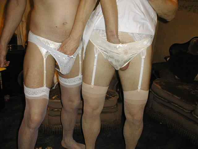 men wearing lingerie